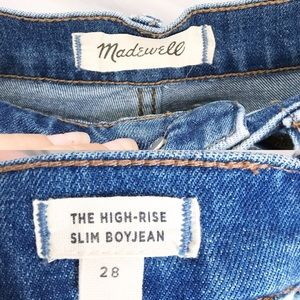 Madewell Jeans - NWOT•Madewell•High Rise Slim Crop Boy Jean Sz 28